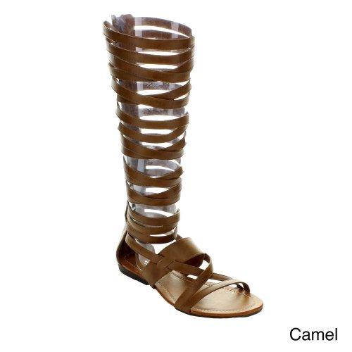 Stötfångaren Kvinnor Lory-63 Gladiator Sandaler Kamel