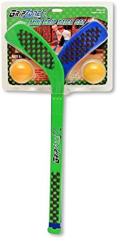 Grip Zone Mini 2-Pk Hockey Stick Set W/2-Foam Balls