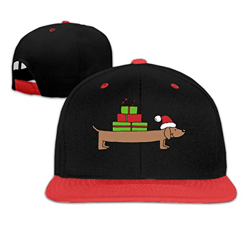 (Ftoyou-7 Women Mens Christmas Dachshund Clipart Adjustable Hip-Hop Caps Dad Hat)