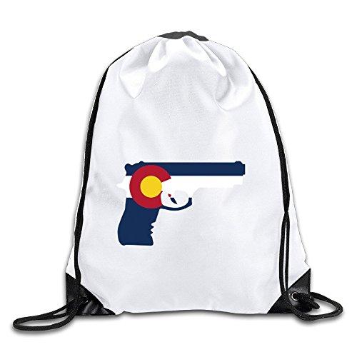 Drawstring Backpack Colorado Flag Gym Bag