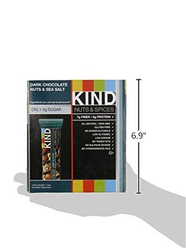 Bars, Dark Chocolate Nuts & Sea Salt, Gluten Free, Low Sugar, 1.4oz, 24 Count by KIND (Image #8)