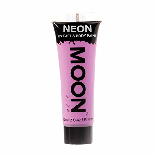 Moon Glow - 0.42oz Blacklight Neon UV Face & Body Paint - Pastel Lilac