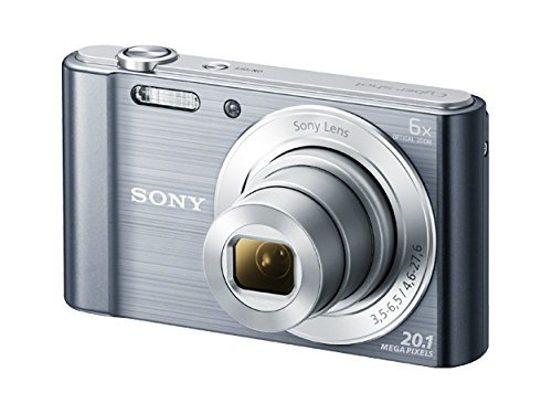 Sony DSC-W810M – 20.1 MP Digital Camera with 6x Optical Zoom – Silver (Renewed)