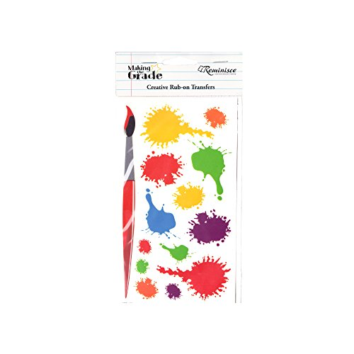 bulk buys Kole Imports CN954 Paint Splatter Creative Rub-On Transfers
