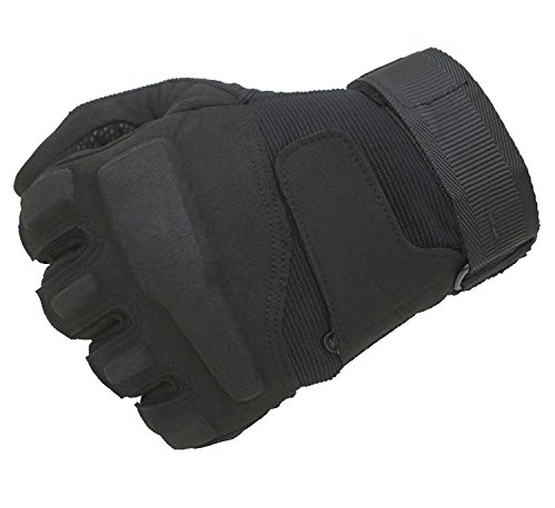 LDF Work Gloves Tactical Gloves Motorcycle Gloves Workout Gloves,Cycling Gloves,All-purpose Gloves for Men Women Fit for Gardening Camping Gym Power Sports (full black, xl)