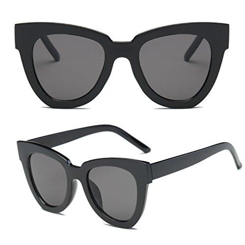 Hukai Women Fashion Retro Cat Eye Sunglasses Designer Square Frame Eyeglass Shades New - Frame Eyeglasses For Teenager