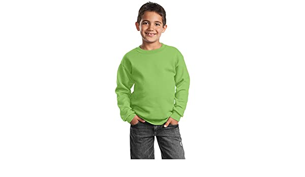Port /& Company Youth Perfect Crewneck Waistband Sweatshirt/_Lime/_X-Large