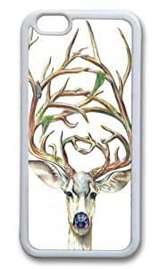 Apple Iphone 6 Case,WENJORS Cool Buck Soft Case Protective Shell Cell Phone Cover For Apple Iphone 6 (4.7 Inch) - TPU White