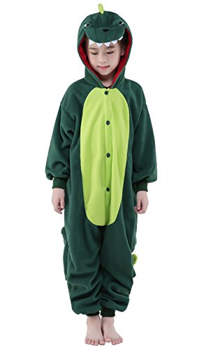 Newcosplay Homewear Childrens Dinosaur Pajamas Sleeping Wear Animal Onesies Cosplay Costume … (85#)