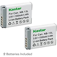 [Fully Decoded] Kastar Battery (2-Pack) for Canon NB-13L, NB13L and Canon PowerShot G5 X, Canon PowerShot G7 X, Canon PowerShot G9 X, Canon SX620 HS, Canon SX720 HS Digital Camera