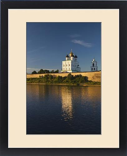 Framed Print of Russia, Pskovskaya Oblast, Pskov, elevated view of Pskov Kremlin from the by Fine Art Storehouse