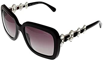 Amazon.com: Chanel Bijou Sunglasses Square Womens Burgundy