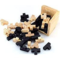 GT 3D-Wooden Blocks Brain Teaser Puzzles, Wooden Brain Teaser Chinese Puzzle Kongming Luban Lock Adult Kids Game Toy…