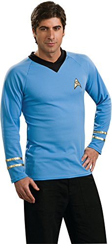 Star Trek Classic Deluxe Blue Shirt, Adult Medium Costume for $<!--$22.02-->