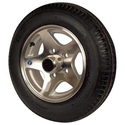 Martin Aluminum Star Mag Trailer Tires and Assembly - 12in. Bias Ply, Model# DM412B-5SM Aluminum Star Mag Trailer