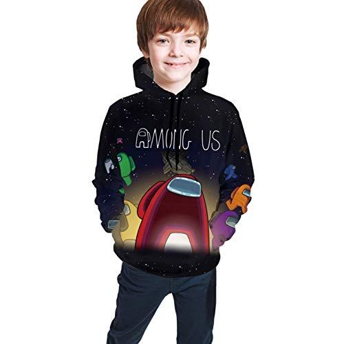 Onder Us Games Kids Dunne Hoodies Met Zakken Jeugd Pullover Hooded Sweatshirts voor Jongens Meisjes Tiener (S M L XL)