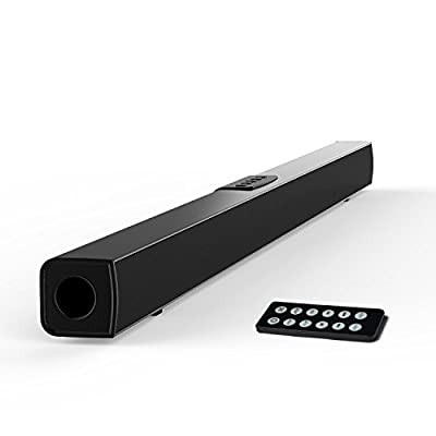 TV Sound Bar, Meidong Bluetooth Soundbar with Built-in Subwoofer, 36 inch 2.1 Channel Home Theater Speakers, Wireless and Wired Bluetooth Audio for TV/PC/ Pones/Tablets/ Echo dot (2017 Model)