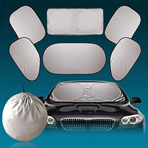 SaveStore 6 pcs/Set Car Window Sunshade Foldable Window Windshield Full Shield Visor Block Sun Shade Cover Car-Styling