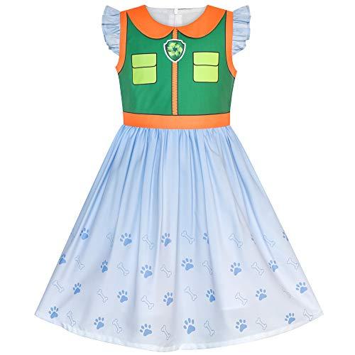 Girls Dress Paw Patrol Rocky Costume Halloween Party Size -