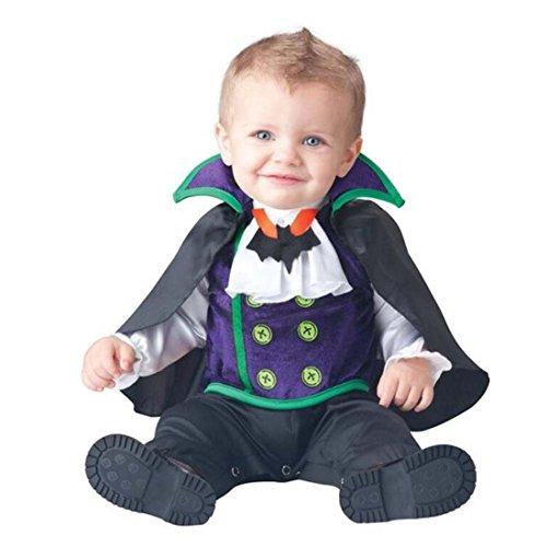 JTENGYAO Infant Boys Girls Vampire Costume Halloween Christmas Pajamas Cosplay Costume(19-24 -