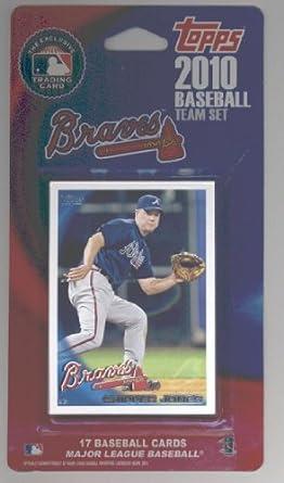 Amazoncom 2009 2010 Topps Atlanta Braves Baseball Cards Team Set