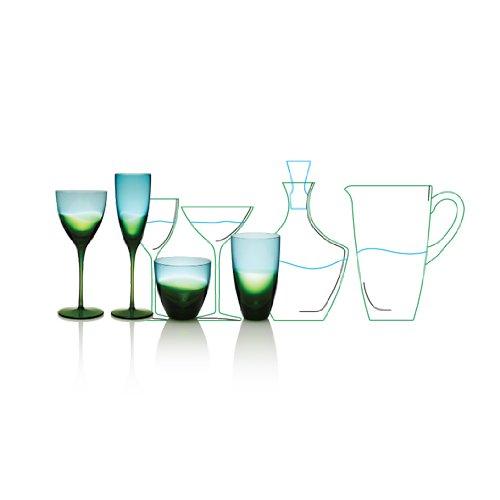 UPC 809846704765, Kim Seybert Vague Glass Decanter Blue/Green