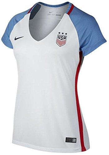 - Nike Women's U.S. Stadium Top White/Game Royal/Midnight Navy Size Medium