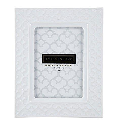 (Disney Parks Mickey Mouse Icon White Ceramic 5x7 inch Photo Frame)