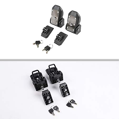 RT-TCZ Original JL Hood Latches Hood Lock Catch Latches Kit for Jeep Wrangler JK JL 2007-2018 (Black) by RT-TCZ (Image #5)