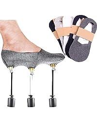 Colorcasa Anti-Slip Unisex Silicone No Show Socks (5 Pairs Set)