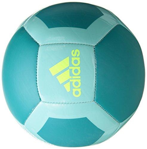 adidas Performance Glider II soccer ball, Energy Aqua/Energy Blue-SLD/Solar Yellow, 3