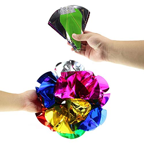 Flower Magic Trick - WSNMING Appearing Ball Flower Magic Spring Flower Bouquet Magic Tricks Props Close Up Street Magic Tricks Novelty Party Toys (Diameter 12