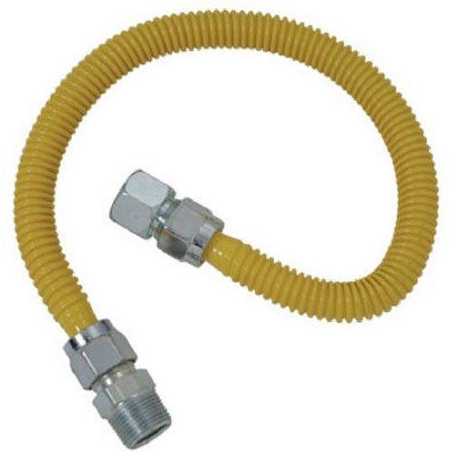 (Plumb Shop Brasscraft CSSC54-24P 24-Inch Stainless Steel Gas Range Connector)