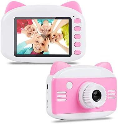 キッズカメラ - 3〜12歳の男の子/女の子、子供カメラビデオカメラ(ピンク)のためのアップグレード子供のデジタルカメラギフト玩具