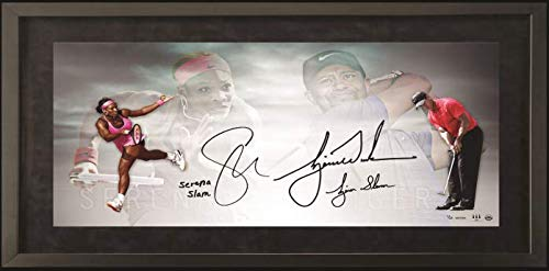 (TIGER WOODS & SERENA WILLIAMS Dual Signed Photo & Dual Inscribed