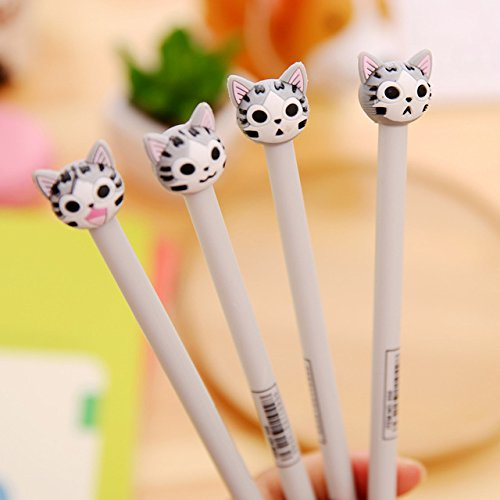 Katoot@ 12 pcs/lot Korean stationery Kawaii Japanese Cat 0.5mm black ink pens for writing cute signature gel pen kids gift school supply