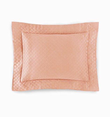 Sferra Bari Standard Size Pillow Sham Diamond Piqué Matelassé 100% Long Staple Egyptian Cotton Azure