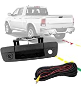 Backup Camera Tailgate Handle for 2009-2017 Ram 1500 2500 3500 Rear View Camera, Fit Aftermarket ...