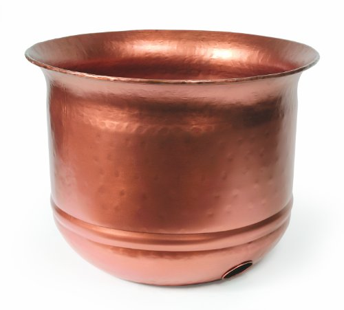 Liberty Garden Products 1904 Hammered Copper Garden Hose Pot   17.5