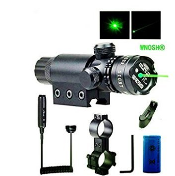 WNOSH-Adjustable-Shockproof-532nm-Tactical-Green-Dot-Laser-Sight-Rifle-Gun-Scope-w-Rail-Barrel-Mount-Cap-Pressure-Switch-Battery-Charger-Include