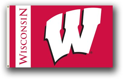 Wisconsin Badgers 3 x 5 Flag