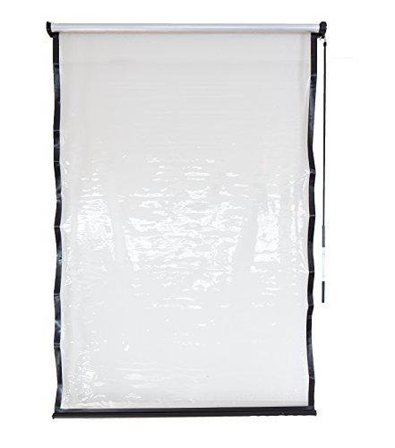 Coolaroo Exterior All Weather Vinyl Roller Shade, 4' x 6', Clear by Coolaroo