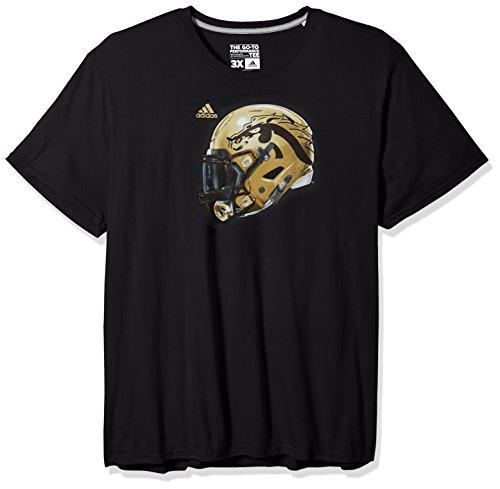 (adidas NCAA Western Michigan Broncos Adult Men 2017 Helmet Ultimate S/Tee, Medium, Black)