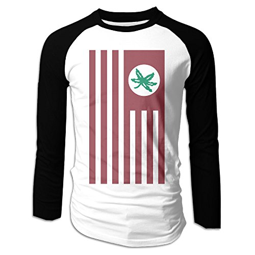 Heathered Scarlet Ohio State Buckeyes Cross-Dye Nation Tri-Blend Men's Baseball Tees Long Sleeve Shirts