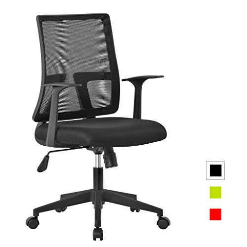 LANGRIA Mid-Back Office Task Chair Upholstered ...