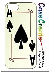 Ace of Spades Poker Playing Cards Decorative Sticker Decal for your iPhone 5 Lifeproof Case