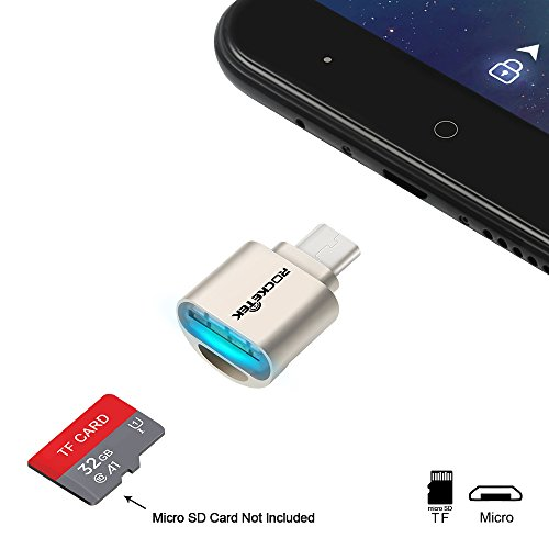 Rocketek Micro USB OTG Portable Memory Card Reader for Micro SD Cards / TF Card to Micro USB Adapter