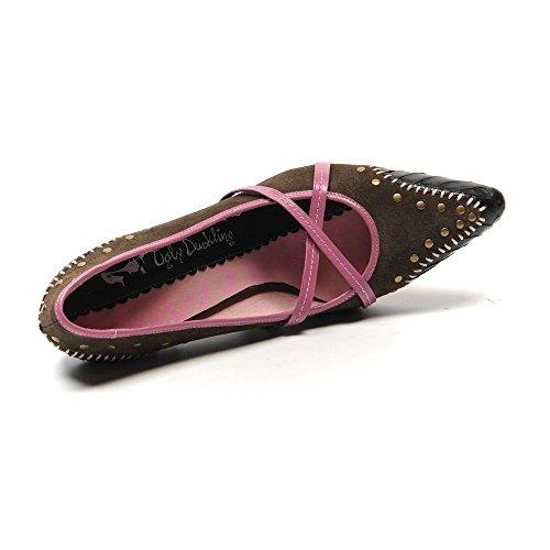 nbsp;SB clouté Petit Canard Chaussures UK 8 Marron Venus Imprimé 41 Vilain 194 Serpent Taille gT7RYqYw