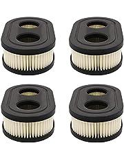 4 Stuks Grasmaaier Luchtfilter, Motor Luchtfilter, Grasmaaierfilter, Geschikt voor het Vervangen van Beschadigde Onderdelen van Grasmaaier(Zwart)