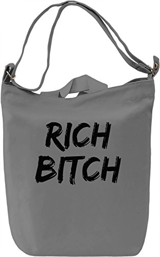 Rich bitch Borsa Giornaliera Canvas Canvas Day Bag| 100% Premium Cotton Canvas| DTG Printing|